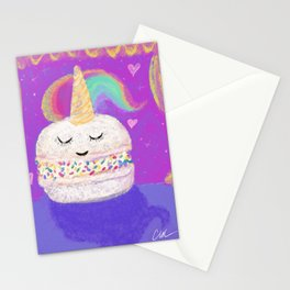 Unicorn macaron Stationery Cards