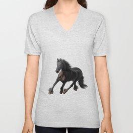 Drawing horse Unisex V-Neck