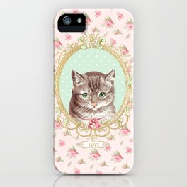 Tabby Cat love iPhone Case