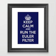 Keep Calm and Run the Euler Filter Framed Art Print