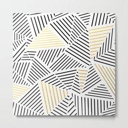 A Linear White Gold New Metal Print