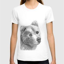 Shaggy Grizzly Bear T-shirt