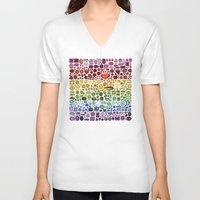gem V-neck T-shirts featuring Gem Collection by Alisa Galitsyna