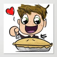 pie Canvas Prints featuring PIE by SamKatDiz