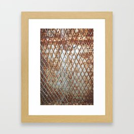 Rusty Grate Framed Art Print