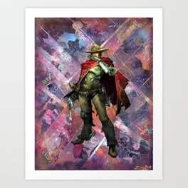 McCree O.W. Gamer Comic Collage PS4 XBox One Geek Art Art Print
