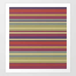 Pastel Colors Stripes Art Print