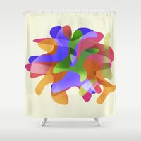 arya Shower Curtains featuring Dancers by Hinal Arya