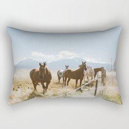 Wild Horses of Colorado Rectangular Pillow