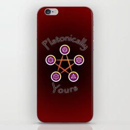 Platonically Yours iPhone Skin