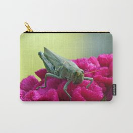 Grasshopper on Cockscomb Carry-All Pouch