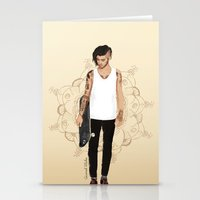 coconutwishes Stationery Cards featuring Skater Zayn  by Coconut Wishes