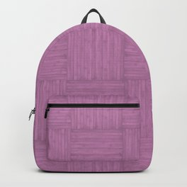 Violet Purple Faux Bois Wood Pattern Backpack