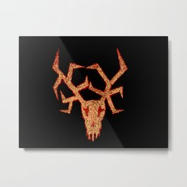 Wendigo Red Aura Metal Print