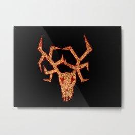 Wendigo Red Aura Metal Print