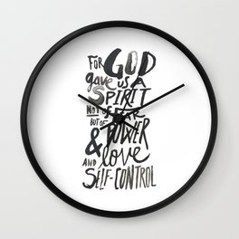 2 Timothy 1: 7 Wall Clock