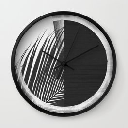 Solar Palm Three Wall Clock