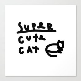 super cute cat Canvas Print