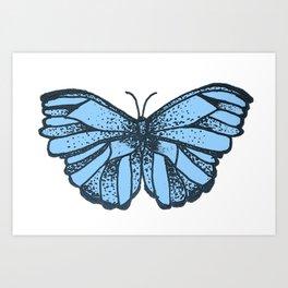 Blue Butterlfy Art Print