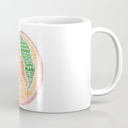 Peach Fruit illustrated with cities of Florida State USA Coffee Mug
