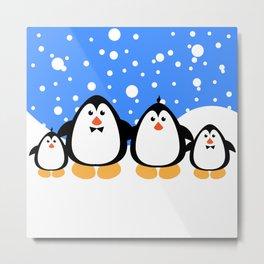 NGWINI - penguin family v3 Metal Print