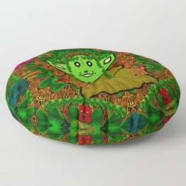 Gnomelorian stand for happy rights in natures color pop-art Floor Pillow