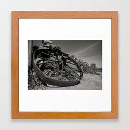 Broken Wagon Wheel Framed Art Print