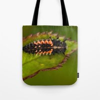 bug Tote Bags featuring Bug by Wealie