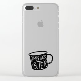 Campfires & Tea Clear iPhone Case