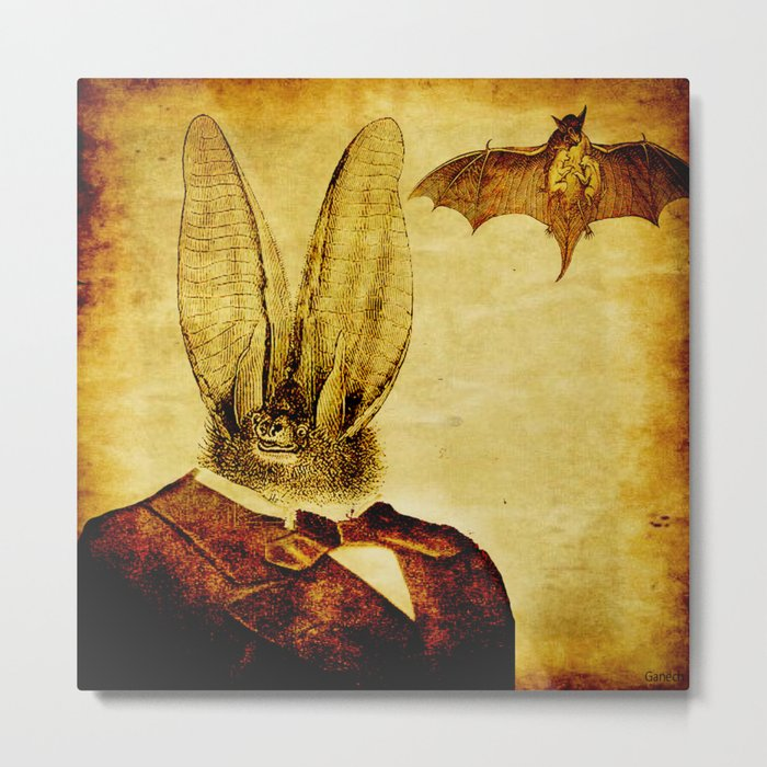 Bat-Man Metal Print