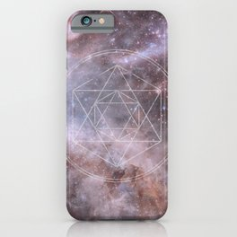 Sacred Geometry Universe iPhone Case
