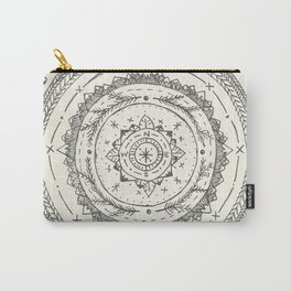 Moon Phase Mountain Mandala Carry-All Pouch