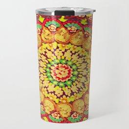 Mandala on copper plate 3 Travel Mug