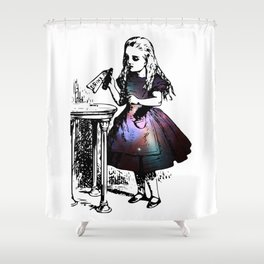 Alice in Universe Shower Curtain