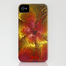 Vibrant Red and Gold iPhone (4, 4s) Slim Case