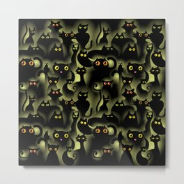 black cat pride Metal Print