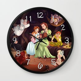 Belle, Wendy and the Lost Boys Wall Clock