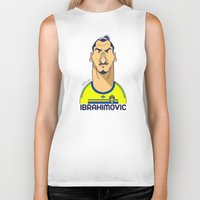 zlatan Biker Tanks featuring Zlatan from Sweden by Rudi Gundersen