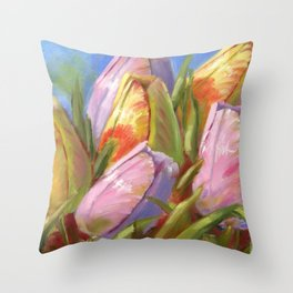 Tulips, flowers Throw Pillow