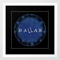 dallas Art Prints featuring Dallas by Sally Sparkshine