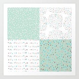 Mint terrazzo mix Art Print