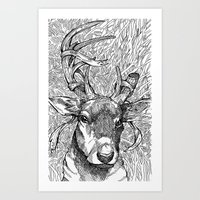 The Prince of Deer Art Print