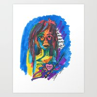 queer Art Prints featuring Queer Face by Gersande