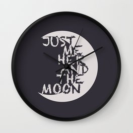 Just Me, Her and the Moon Wall Clock