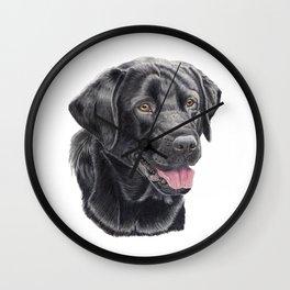 Labrador retriever - black Wall Clock
