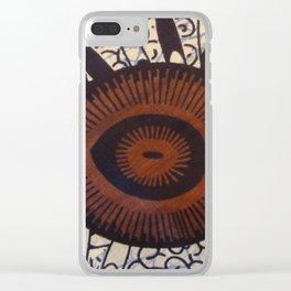 Tanzanian Fabric Clear iPhone Case
