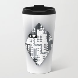 black abstract Travel Mug