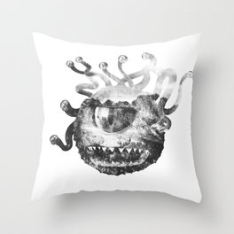 Beholder (Black & White) Throw Pillow