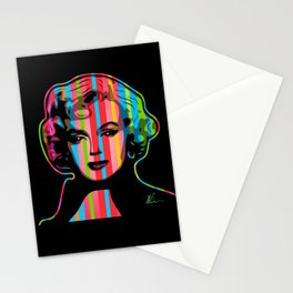 Marilyn | Pop Art | Monroe | Dark by William Cuccio Stationery Cards