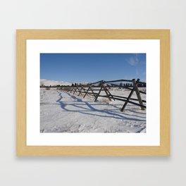 #406 bitterroot barn fence 1 6 14 Framed Art Print
